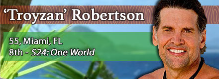 'Troyzan' Robertson, 55, Miami, FL; 8th - S24: One World