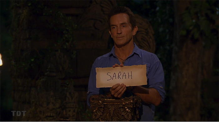 First member of our jury... Sarah