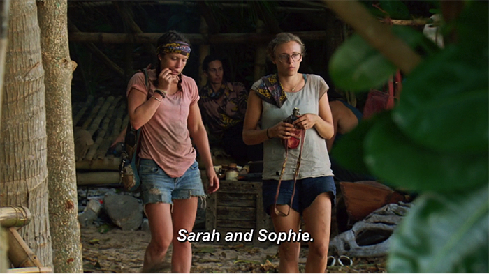 Next time: Sarah and Sophie