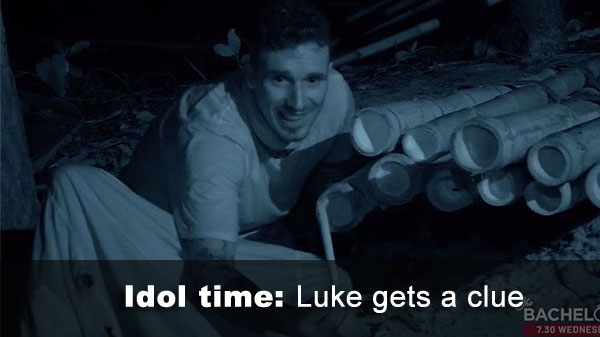 Luke finds idol clue